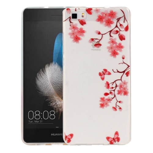 Buy Huawei P8 Lite Maple Leaves Pattern IMD Workmanship Soft TPU Protective Case for $1.27 in SUNSKY store