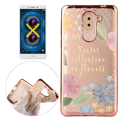 Buy Huawei Honor 6X Lucky Leaves Pattern Electroplating Frame Soft TPU Protective Case for $1.82 in SUNSKY store