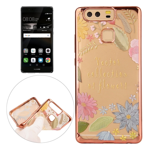 Buy Huawei P9 Lucky Leaves Pattern Electroplating Frame Soft TPU Protective Case for $1.82 in SUNSKY store