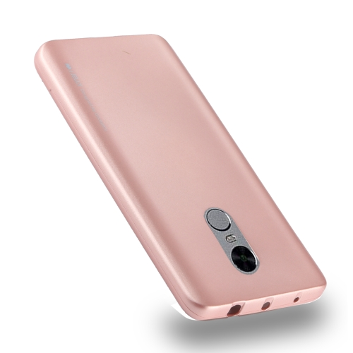 MERCURY GOOSPERY I JELLY METAL Series for Xiaomi Redmi Note 4 Full Coverage TPU Protective Back Cover Case (Rose Gold)