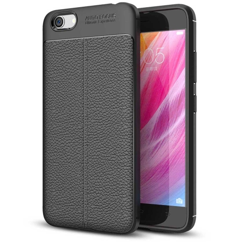 Buy Vivo Y66 Litchi Texture Soft TPU Protective Case, Black for $2.29 in SUNSKY store
