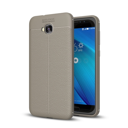 Buy For Asus Zenfone 4 Selfie, ZD553KL Litchi Texture Soft TPU Anti-skip Protective Cover Back Case, Grey for $2.30 in SUNSKY store