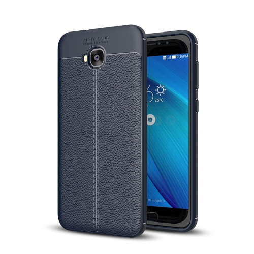 Buy For Asus Zenfone 4 Selfie, ZD553KL Litchi Texture Soft TPU Anti-skip Protective Cover Back Case, navy for $2.23 in SUNSKY store