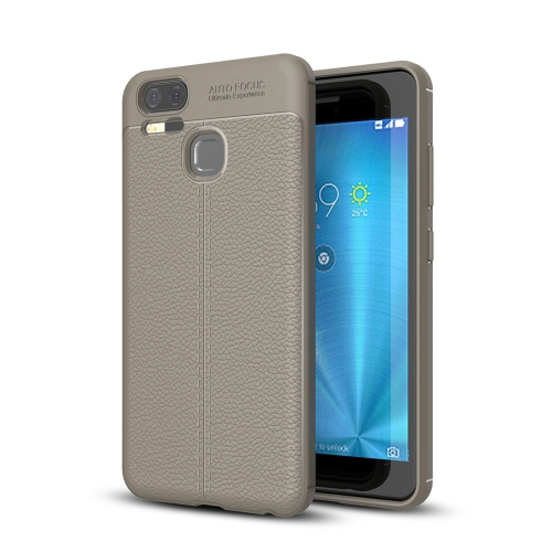 Buy For Asus Zenfone 3 Zoom, ZE553KL Litchi Texture Soft TPU Anti-skip Protective Cover Back Case, Grey for $2.30 in SUNSKY store