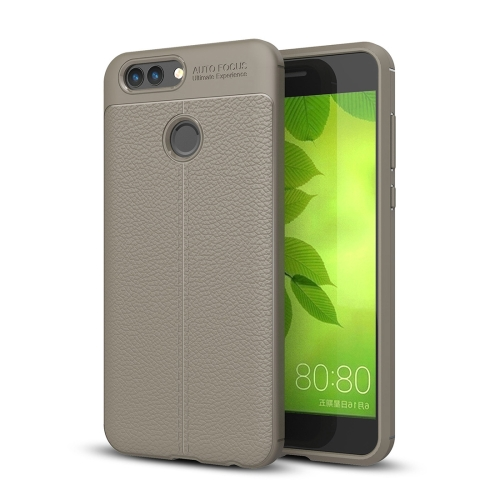 Buy Huawei nova 2 Litchi Texture Soft TPU Anti-skip Protective Cover Back Case, Grey for $2.30 in SUNSKY store