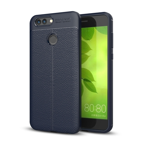 Buy Huawei nova 2 Litchi Texture Soft TPU Anti-skip Protective Cover Back Case (Navy Blue) for $2.30 in SUNSKY store