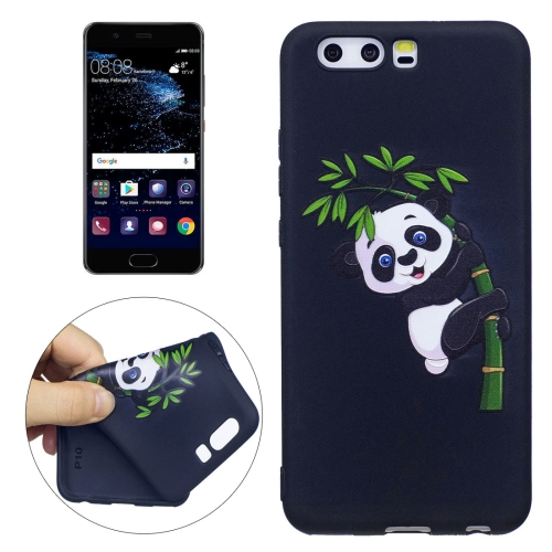 Huawei P10 Panda Bamboo Pattern Stereo Relief TPU Protective Back Cover