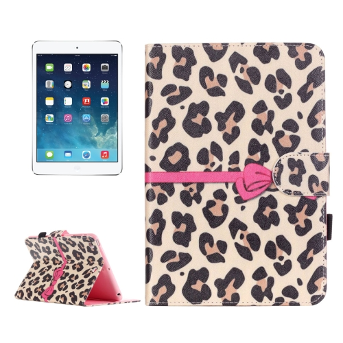 Buy For iPad mini 1 / 2 / 3 Yellow Leopard Pattern Horizontal Flip Leather Case with Holder & Card Slots & Wallet for $4.68 in SUNSKY store