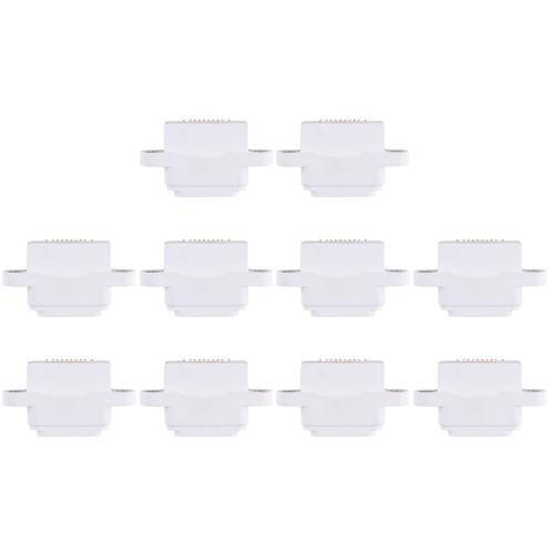 10 PCS Charging Port Connector for iPad mini / mini 2 / mini 3(White)