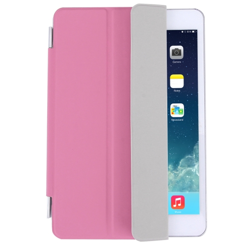 Buy For iPad mini 4 Single Side Polyurethane Smart Cover with 3-Folding Holder, Pink for $3.71 in SUNSKY store