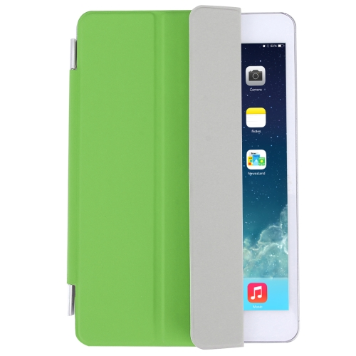Buy For iPad mini 4 Single Side Polyurethane Smart Cover with 3-Folding Holder, Green for $3.71 in SUNSKY store