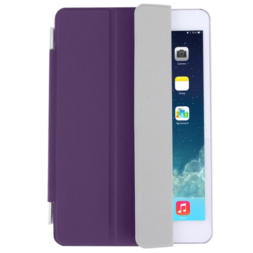 Buy For iPad mini 4 Single Side Polyurethane Smart Cover with 3-Folding Holder, Purple for $3.71 in SUNSKY store