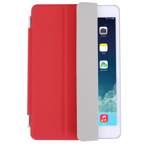Buy For iPad mini 4 Single Side Polyurethane Smart Cover with 3-Folding Holder, Red for $3.71 in SUNSKY store