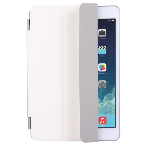 Buy For iPad mini 4 Single Side Polyurethane Smart Cover with 3-Folding Holder, White for $3.71 in SUNSKY store