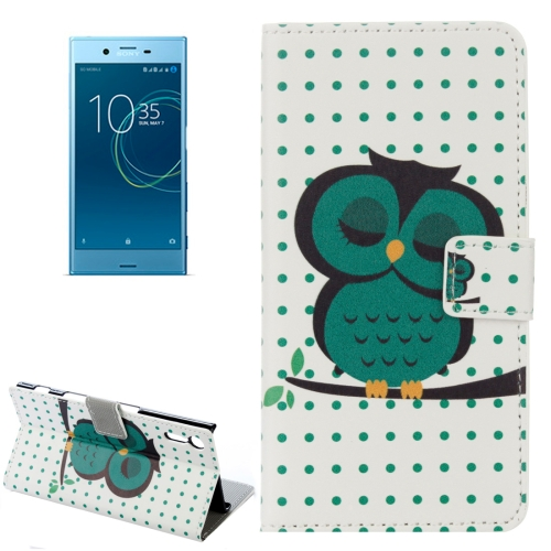 Buy For Sony Xperia XZs Dot and Owls Pattern Horizontal Flip Leather Case with Holder & Card Slots & Wallet for $2.30 in SUNSKY store