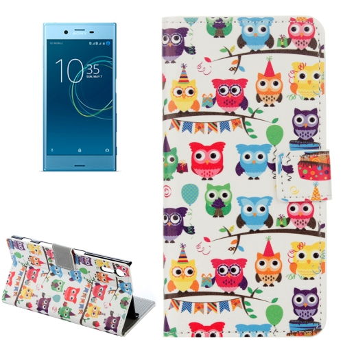 Buy For Sony Xperia XZs Many Heads Owls Pattern Horizontal Flip Leather Case with Holder & Card Slots & Wallet for $2.20 in SUNSKY store