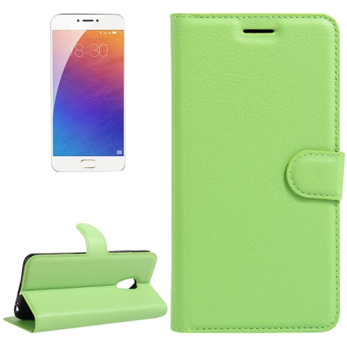 Buy Meizu M3E / Meilan E Litchi Texture Horizontal Flip Leather Case with Holder & Card Slots & Wallet, Green for $2.31 in SUNSKY store