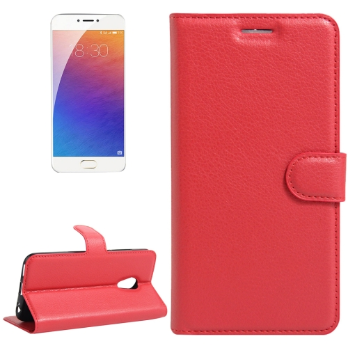 Buy Meizu M3E / Meilan E Litchi Texture Horizontal Flip Leather Case with Holder & Card Slots & Wallet, Red for $2.31 in SUNSKY store