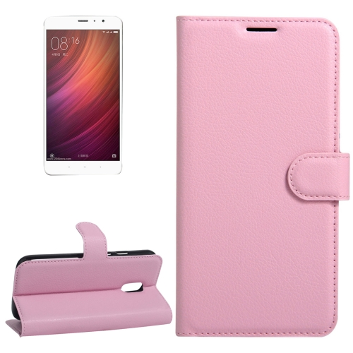 Buy Xiaomi Redmi Note 4 Litchi Texture Horizontal Flip Leather Case with Holder & Card Slots & Wallet, Pink for $2.67 in SUNSKY store
