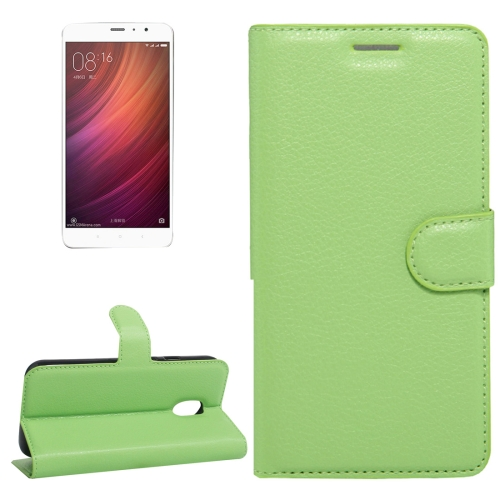 Buy Xiaomi Redmi Note 4 Litchi Texture Horizontal Flip Leather Case with Holder & Card Slots & Wallet, Green for $2.67 in SUNSKY store