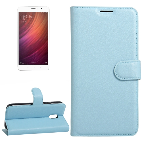 Buy Xiaomi Redmi Note 4 Litchi Texture Horizontal Flip Leather Case with Holder & Card Slots & Wallet, Blue for $2.67 in SUNSKY store