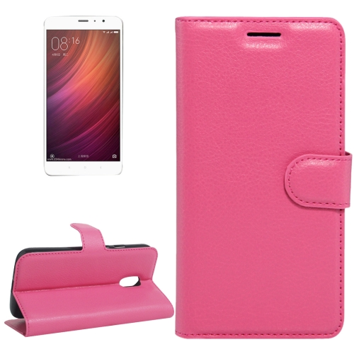 Buy Xiaomi Redmi Note 4 Litchi Texture Horizontal Flip Leather Case with Holder & Card Slots & Wallet, Magenta for $2.67 in SUNSKY store