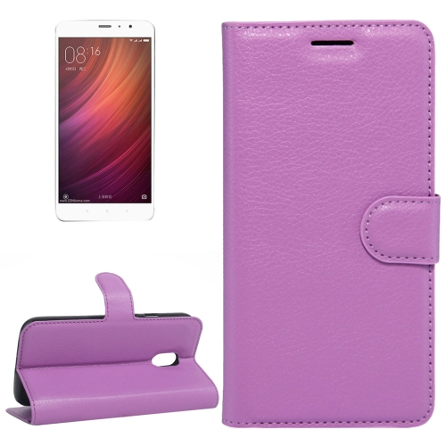 Buy Xiaomi Redmi Note 4 Litchi Texture Horizontal Flip Leather Case with Holder & Card Slots & Wallet, Purple for $2.67 in SUNSKY store
