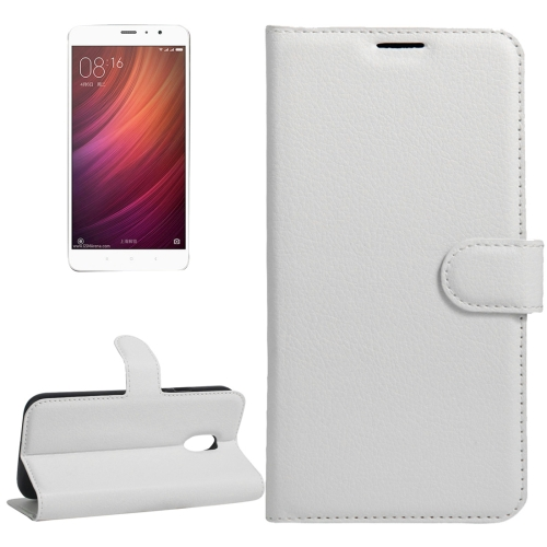 Buy Xiaomi Redmi Note 4 Litchi Texture Horizontal Flip Leather Case with Holder & Card Slots & Wallet, White for $2.67 in SUNSKY store