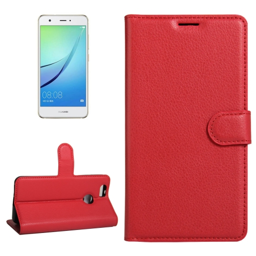 Buy For Huawei nova Litchi Texture Horizontal Flip Leather Case with Holder & Card Slots & Wallet, Red for $2.33 in SUNSKY store