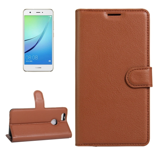 Buy For Huawei nova Litchi Texture Horizontal Flip Leather Case with Holder & Card Slots & Wallet, Brown for $2.33 in SUNSKY store