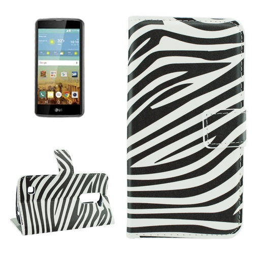 Buy For LG K7 Zebra Stripes Pattern Horizontal Flip Leather Case with Holder & Card Slots & Wallet for $2.18 in SUNSKY store
