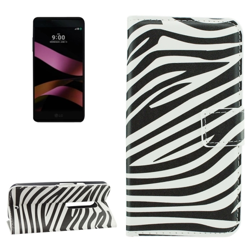 Buy For LG X Style Zebra Stripes Pattern Horizontal Flip Leather Case with Holder & Card Slots & Wallet for $2.18 in SUNSKY store