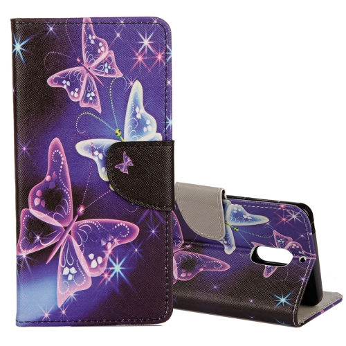 Buy For Nokia 5 Purple Crystal Butterflies Pattern Horizontal Flip Leather Case with Holder & Card Slots & Wallet for $2.42 in SUNSKY store