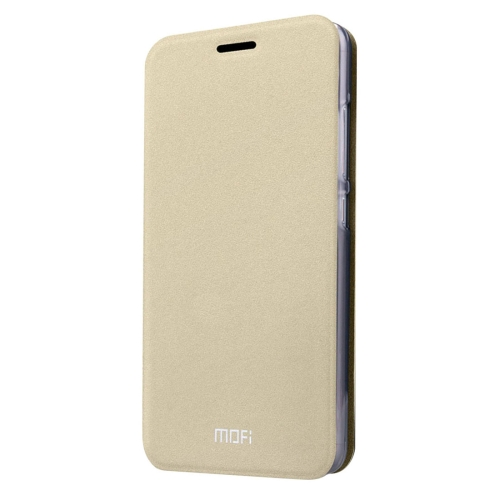 MOFI Xiaomi Mi 5 Crazy Horse Texture Horizontal Flip Leather Case with Holder, Gold
