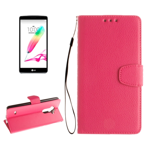 Buy For LG G4 Stylus Litchi Texture Horizontal Flip Leather Case with Holder & Card Slots & Wallet & Photo Frame & Lanyard, Magenta for $2.42 in SUNSKY store