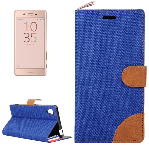 Buy For Sony Xperia X Performance Denim Texture Horizontal Flip Leather Case with Holder & Card Slots, Blue for $2.55 in SUNSKY store