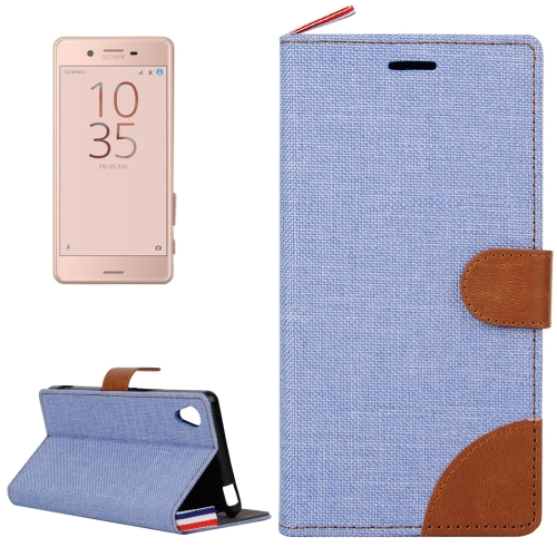 Buy For Sony Xperia X Performance Denim Texture Horizontal Flip Leather Case with Holder & Card Slots (Baby Blue) for $2.55 in SUNSKY store