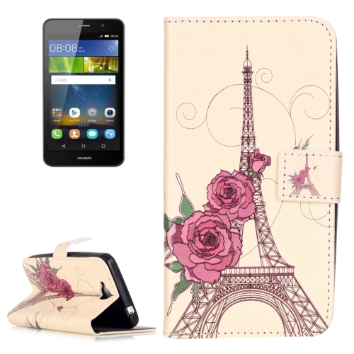 Buy Huawei Y6 Pro Embossment Rose Tower Pattern Horizontal Flip Leather Case with Holder & Card Slots & Wallet for $2.14 in SUNSKY store