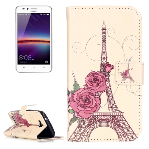 Buy Huawei Y3 II Embossment Rose Tower Pattern Horizontal Flip Leather Case with Holder & Card Slots & Wallet for $2.14 in SUNSKY store