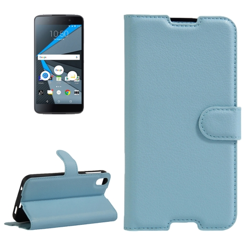 Buy For BlackBerry DTEK50 & Alcatel Idol 4 Litchi Texture Horizontal Flip Leather Case with Magnetic Buckle & Holder & Card Slots & Wallet, Blue for $2.67 in SUNSKY store