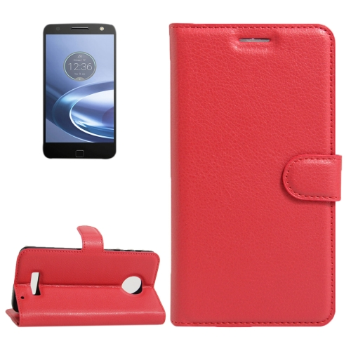 Buy For Motorola Moto Z Force Litchi Texture Horizontal Flip Leather Case with Magnetic Buckle & Holder & Card Slots & Wallet, Red for $2.30 in SUNSKY store