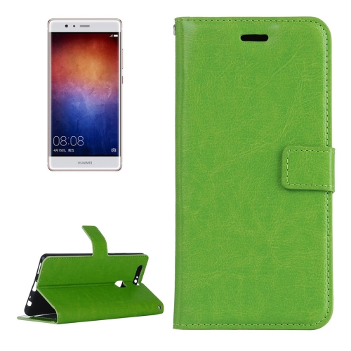 Buy For Huawei P9 Plus Crazy Horse Texture Horizontal Flip PU Leather Protective Case with Holder & Card Slots & Wallet & Photo Frame, Green for $2.18 in SUNSKY store
