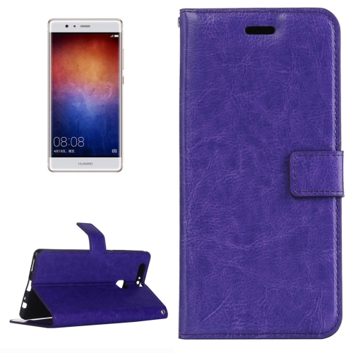 Buy For Huawei P9 Plus Crazy Horse Texture Horizontal Flip PU Leather Protective Case with Holder & Card Slots & Wallet & Photo Frame, Purple for $2.18 in SUNSKY store