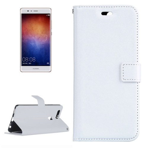 Buy For Huawei P9 Plus Crazy Horse Texture Horizontal Flip PU Leather Protective Case with Holder & Card Slots & Wallet & Photo Frame, White for $2.18 in SUNSKY store