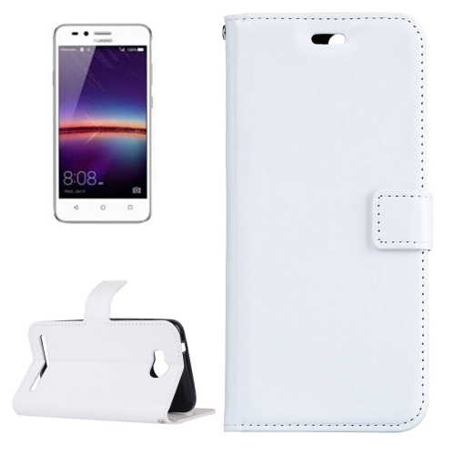 Buy For Huawei Y3 II Crazy Horse Texture Horizontal Flip PU Leather Protective Case with Holder & Card Slots & Wallet & Photo Frame, White for $2.18 in SUNSKY store