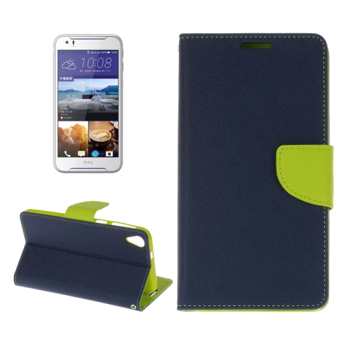 Buy For HTC Desire 830 Cross Texture Horizontal Flip Leather Case with Holder & Card Slots & Wallet (Dark Blue) for $2.16 in SUNSKY store