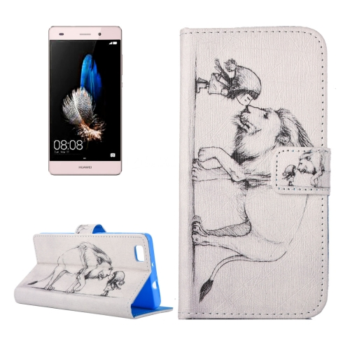Buy For Huawei P8 Lite Lion and Girl Pattern Horizontal Flip PU Leather Case with Holder & Card Slots & Wallet for $1.89 in SUNSKY store