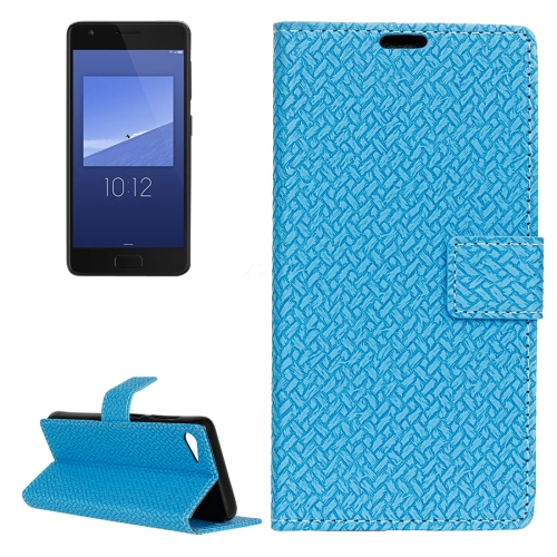 Buy For Lenovo ZUK Z2 Weaving Texture Horizontal Flip PU Leather Case with Magnetic Buckle & Holder & Card Slots & Wallet & Photo Frame, Blue for $3.19 in SUNSKY store