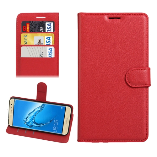 Buy For Huawei nova Plus Litchi Texture Horizontal Flip Leather Case with Holder & Card Slots & Wallet, Red for $2.30 in SUNSKY store