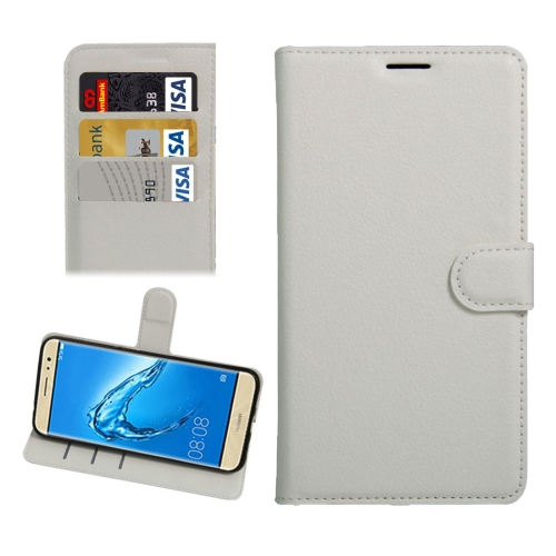 Buy For Huawei nova Plus Litchi Texture Horizontal Flip Leather Case with Holder & Card Slots & Wallet, White for $2.30 in SUNSKY store